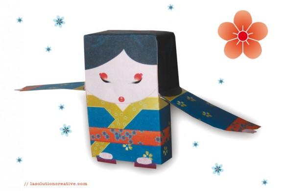 Mako, la poupée de papier